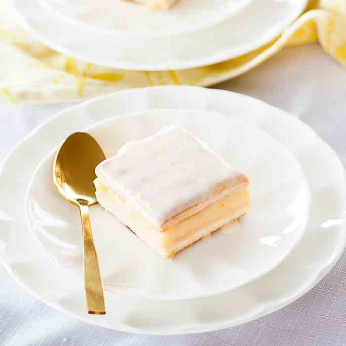 Easy Lemon Custard Slice