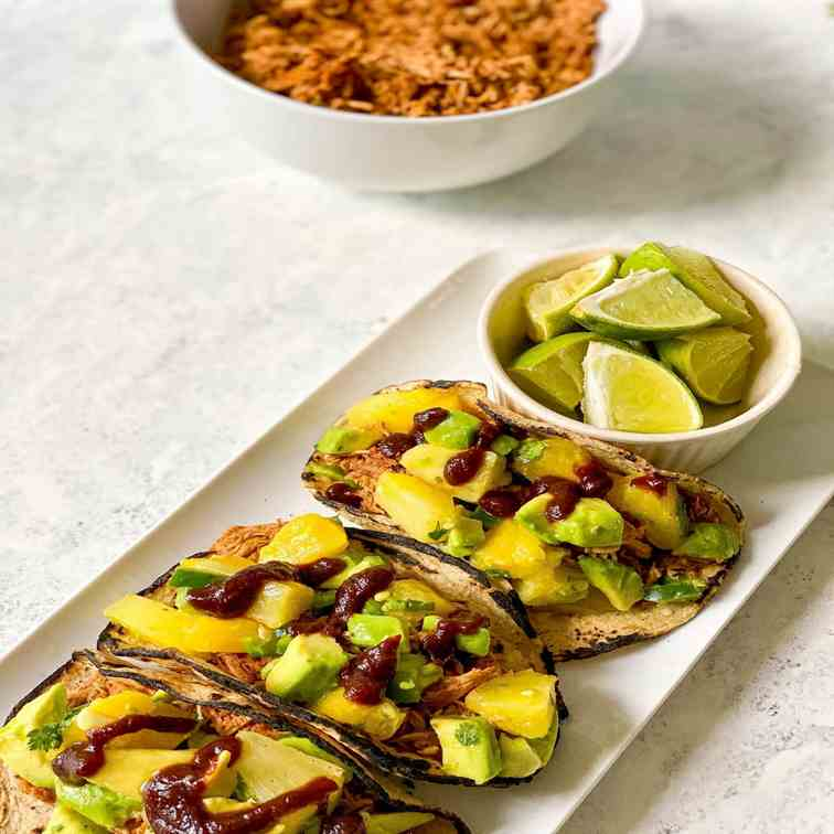 BBQ Chicken Tacos - Pineapple Salsa
