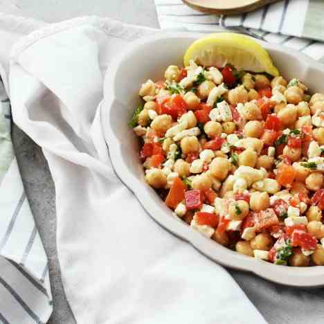 Chickpea Salad with Feta