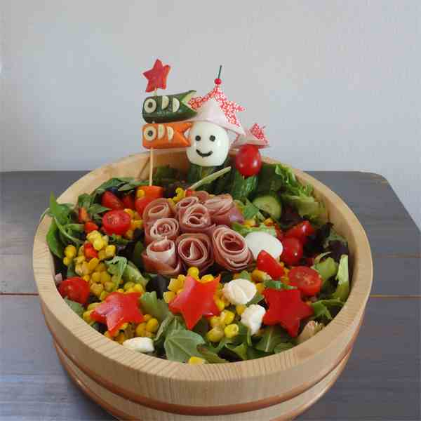 Children's Day salad with Miso dressing