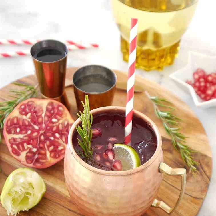 Pomegranate - Rosemary Moscow Mule