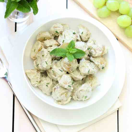 Potato Salad with Mint Pesto