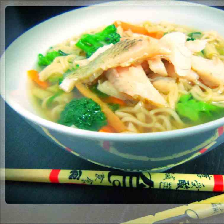Noodle Soup with River Bass