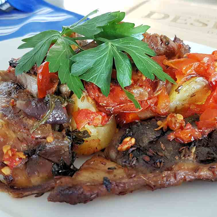 Tava (Cypriot Baked Lamb)