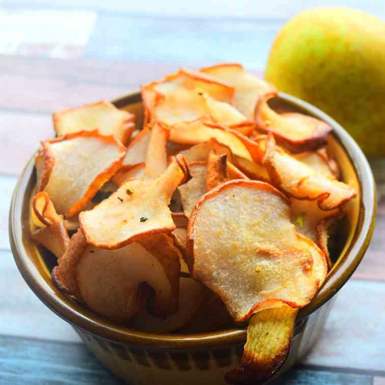 Healthy Pear Crisps