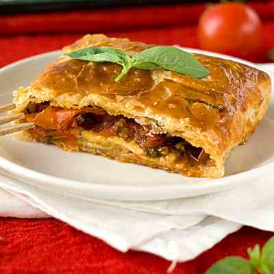Roasted Tomato and Gouda Strudel