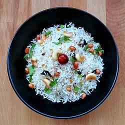 Thengai Sadam (Toasted Coconut rice)