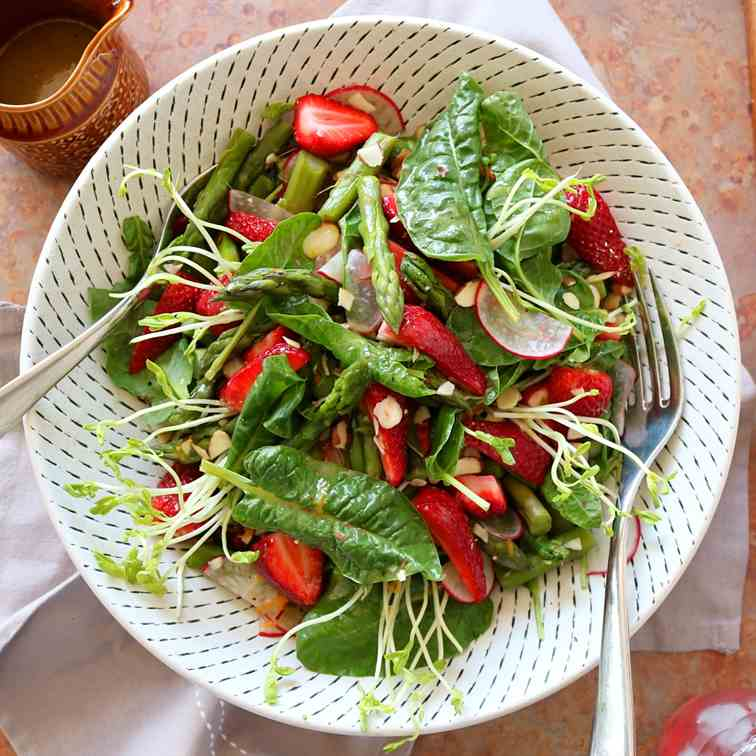 Asparagus - Strawberry Salad