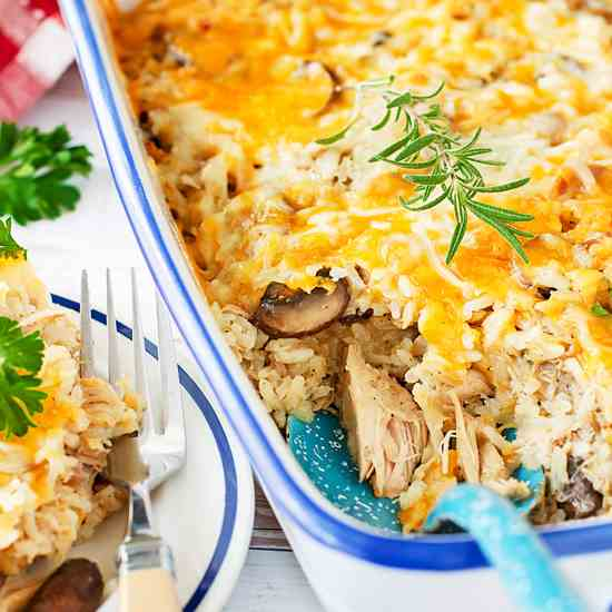 Leftover Cheesy Turkey Casserole