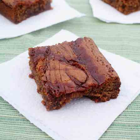 Brown Butter Blondies with Whiskey Caramel