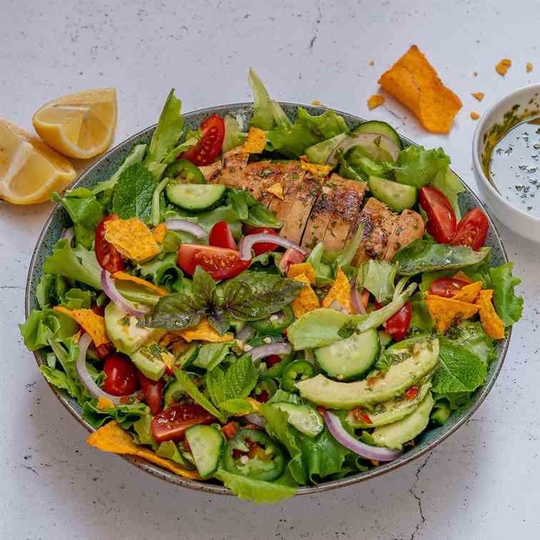 Chimichurri Chicken Avocado Salad