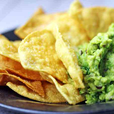 Chipotle Lime Chips and Guacamole