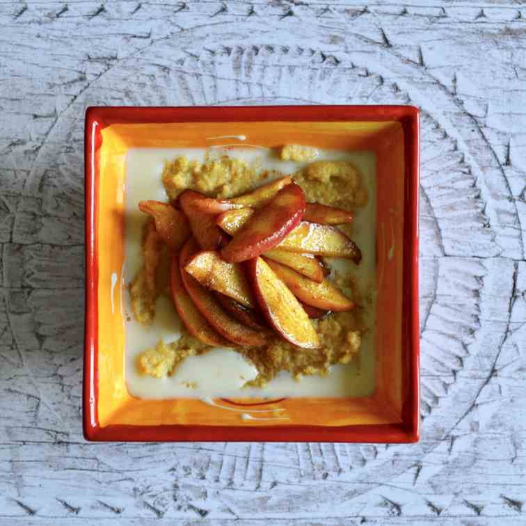 Cinnamon Toffee Apple Polenta