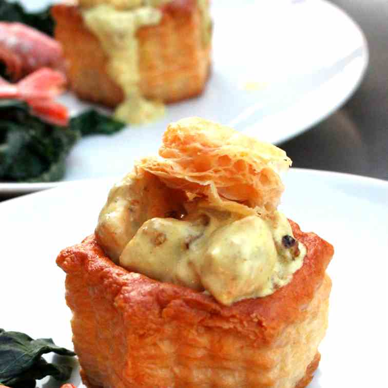 Vol au vent with Salmon