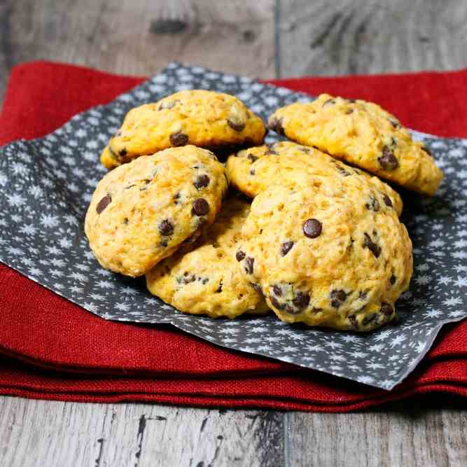 Perfect Paleo Pumpkin Choc Chip Cookies