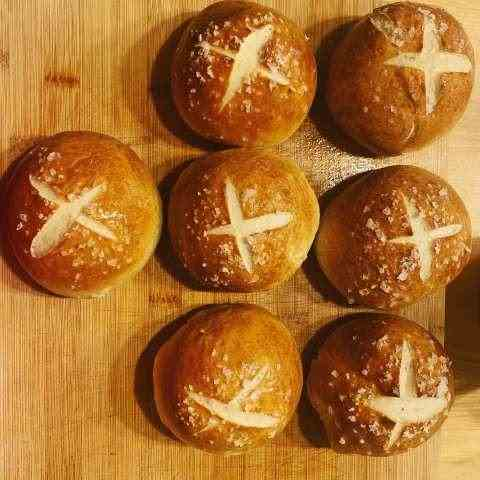 Bacon Fat Pretzel Buns