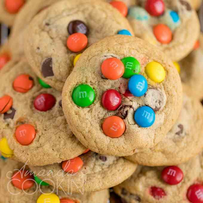Chocolate Chip M-M Cookies