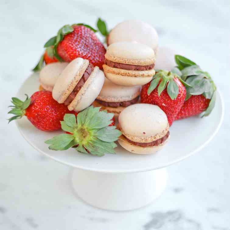 Double Strawberry Macarons