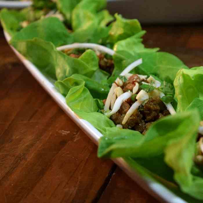 Asian Inspired Turkey Lettuce Cups