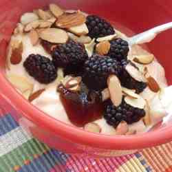 Yogurt, Blackberries & Almonds
