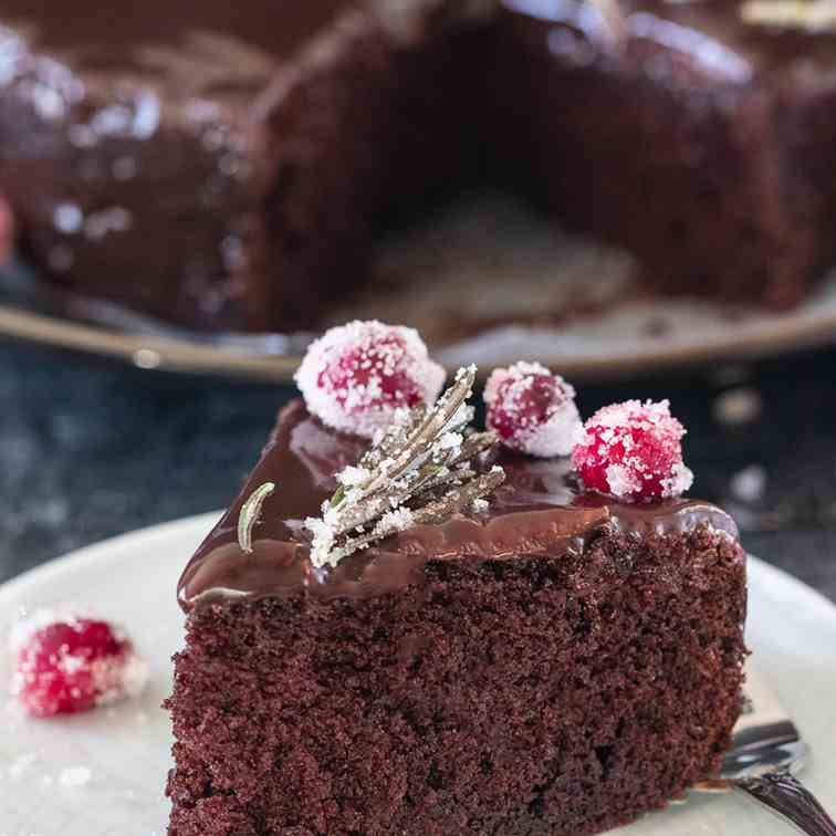 7-minute Eggless Chocolate Cake