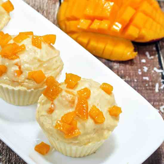 Mango Coconut Puddings
