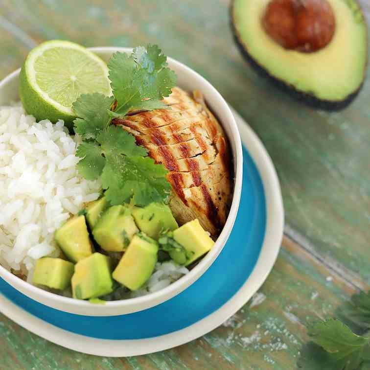 Lime - Coriander Chicken with Avocado