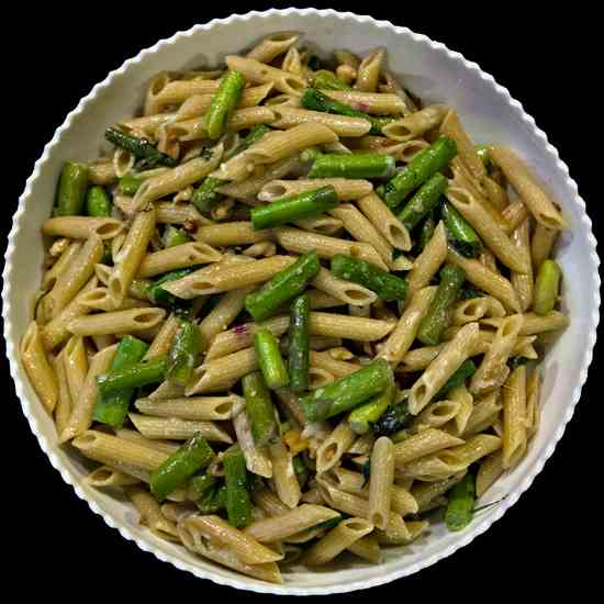 Asparagus and Walnut Pasta