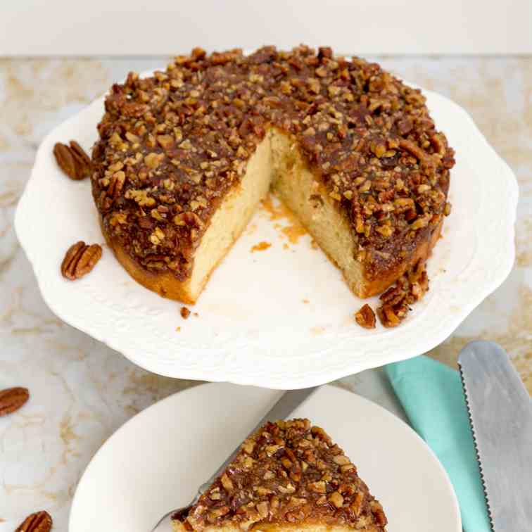 Upside Down Pecan Pie Cake Recipe