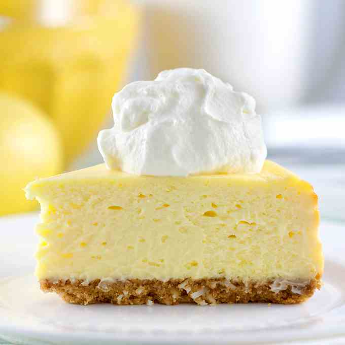 The Best Lemon Cheesecake. Ever-