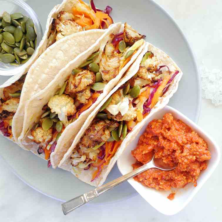 Tacos with Roasted Cauliflower