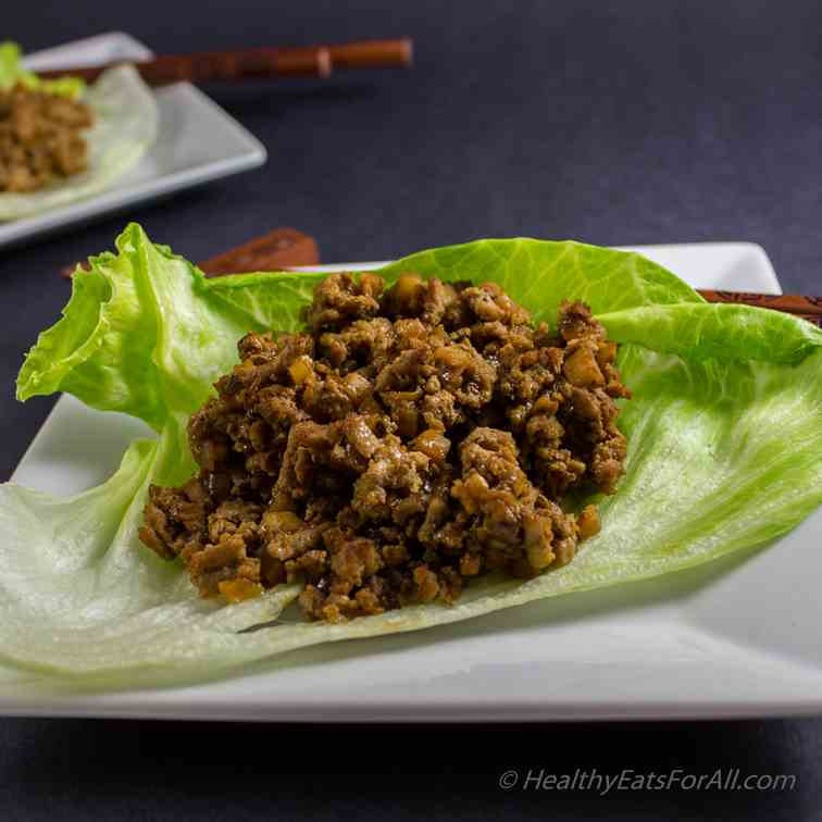 Chinese Style Lettuce Wraps