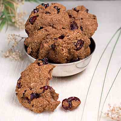 Chocolate Craisin Almond Meal Cookies