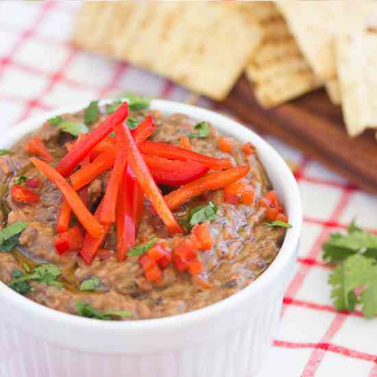 Black Bean and Grilled Red Pepper Dip