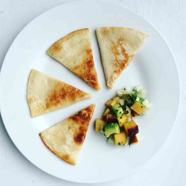 Black Bean Quesadillas with Fruit Salsa