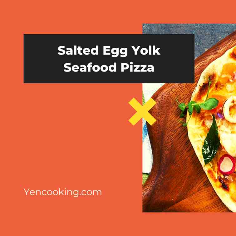 Salted Egg Yolk Seafood Pizza