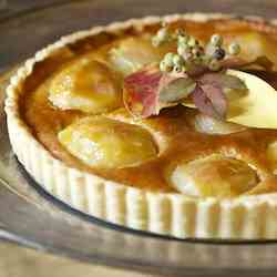 Anjou Pear and Almond Tart