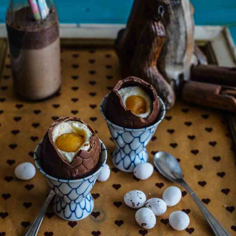 Chocolate Mousse Cream Easter Eggs