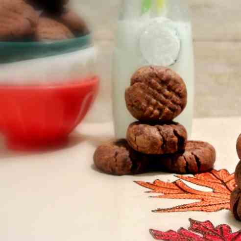 Soft Cocoa Peanut Butter Cookies