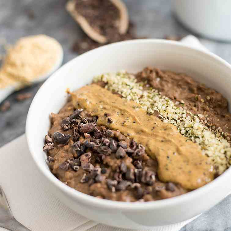 Chocolate Peanut Butter Low Carb Oatmeal