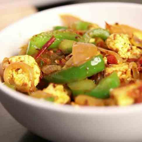 How To Make Veg Recipe- Paneer - Capsicum