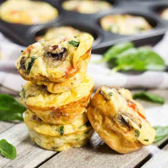 Muffin Tin Omelets with Prosciutto