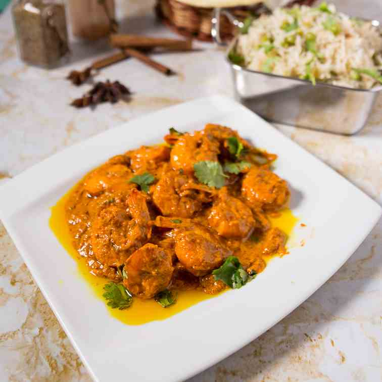 The Best Tandoori Prawns Masala