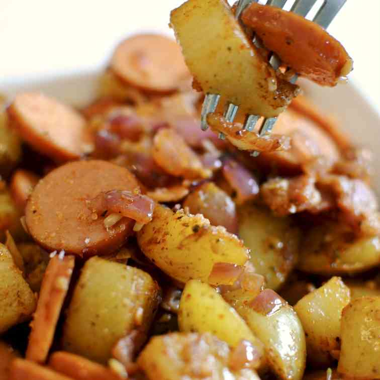 Smoked Sausage - Bacon Breakfast Potatoes