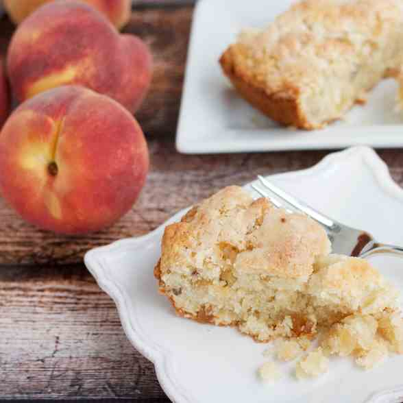 Candied Ginger and Peach Scones