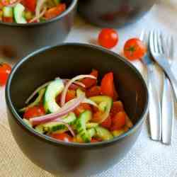 Cherry Tomato and Cucumber Salad