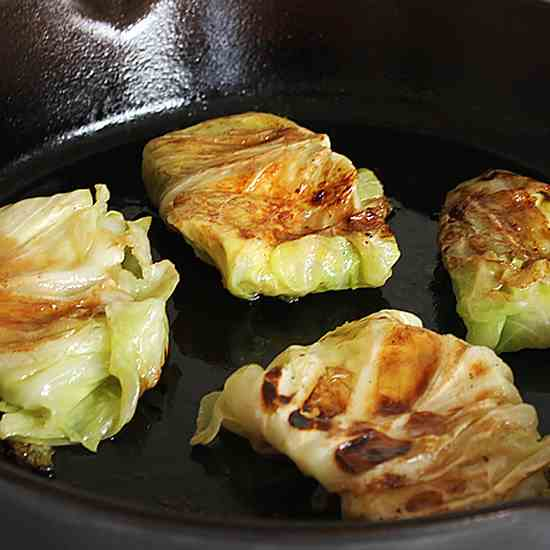 Cheese Stuffed Cabbage Rolls