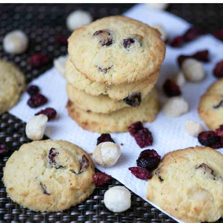 Coconut Cranberry Orange Cookies