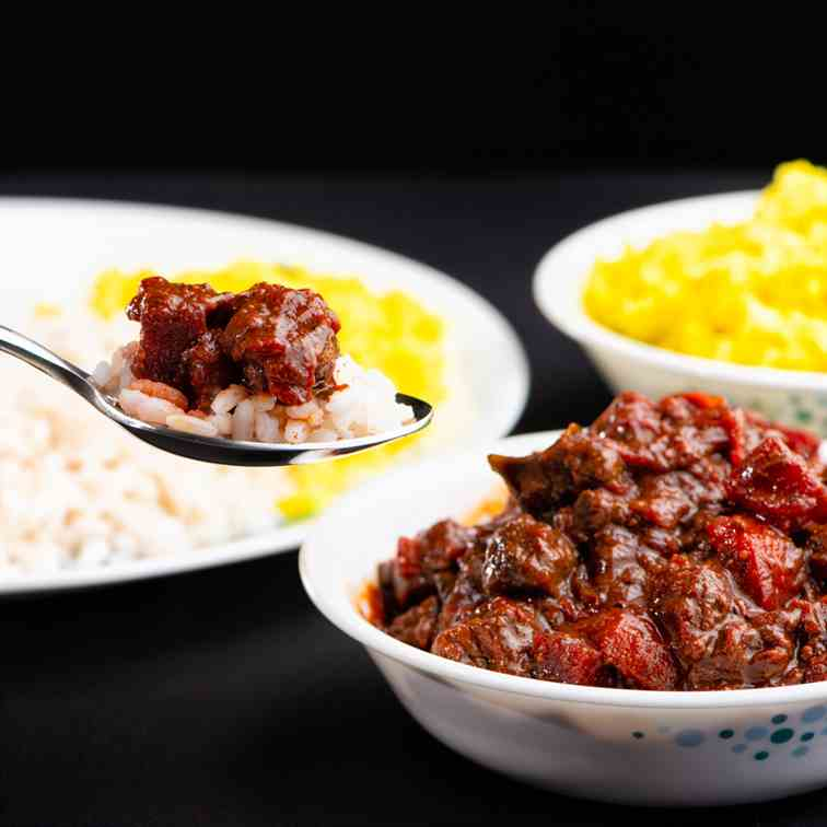 Beef and Beetroot curry, Beef with Beetroo