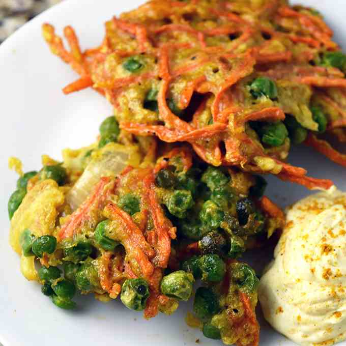 Indian Carrot Pea Pancake